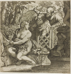 Cooke : Susanna and the two elders : illustration